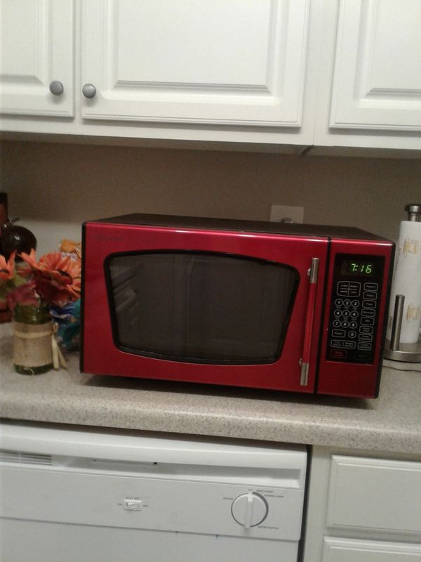 Red Emerson Microwave Oven For Sale In Fayetteville NC