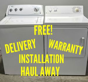 Photo FREE DELIVERY/INSTALLATION/WARRANTY/HAUL AWAY - Whirlpool Washer & and GE Dryer