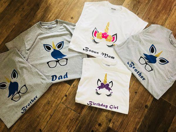 Unicorn Birthday Shirts For Sale In Apopka FL