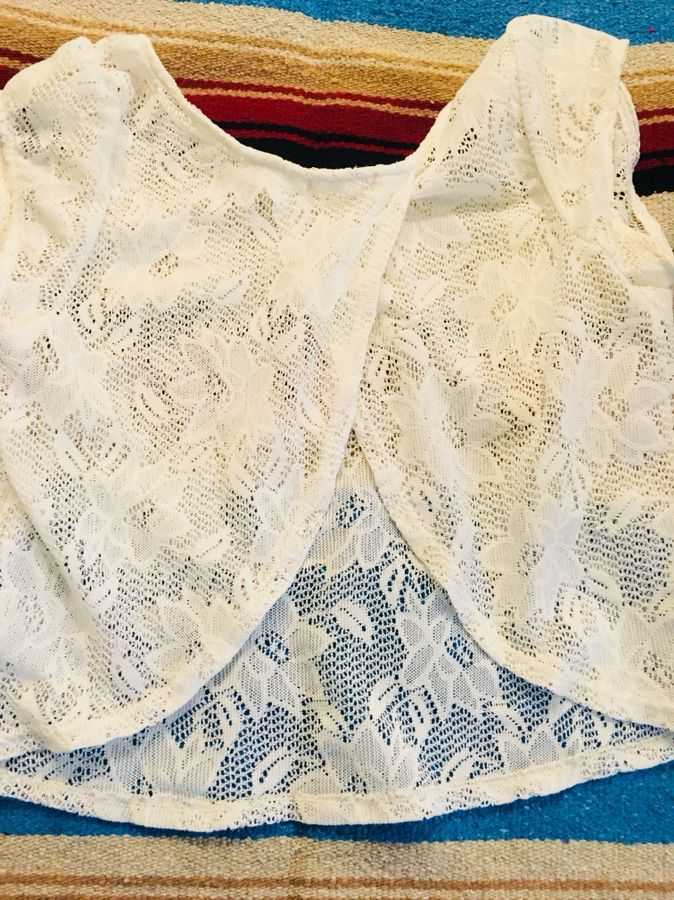 Shear Summer Top with Open Back