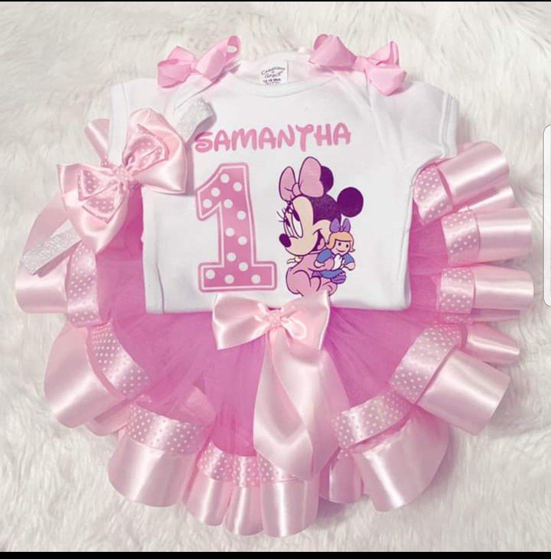 Conjunto de tutu personalizado para tu prinsesa