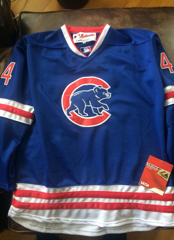 Chicago Cubs Rizzo Hockey Jersey XL for Sale in Naperville d73563f439f
