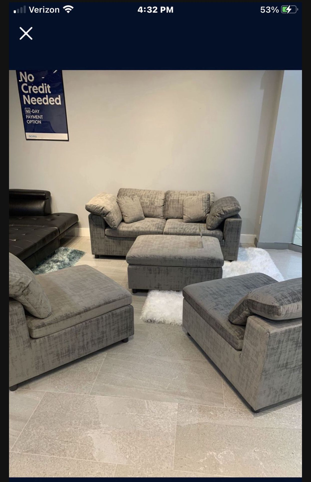 """""""LIMA SECTIONAL""""  IT' S MORE THAN A SECTIONAL! SOFA, 2-CHAIRS & OTTOMAN! SPARE BED! GET CREATIVE!"""