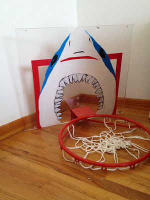 Shark basketball hoop hand painted for Sale in Nashville, TN
