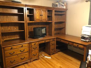 Oak office furniture for Sale in Waterbury, CT