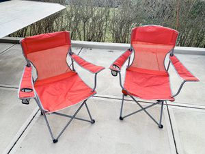 Photo Pick up today 2 like new camping chairs both for $7, Pick up in Monroeville,