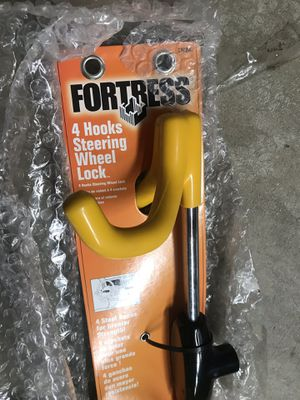 Fortress 4 hooks steering wheel lock -brand new for Sale in Rockville, MD