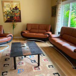 Italian 3 piece Living Room set Thumbnail