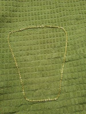 Photo 22 inch real 10kt gold diamond cut hollow rope chain. Real gold. 375 Obo today