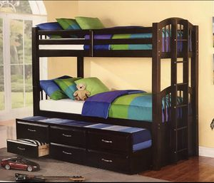 Bunk bed 3 bed twin size includes for Sale in Richmond, VA