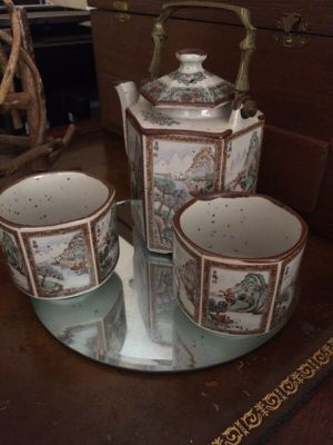 Vintage Japanese Tea Pot Set for Two for Sale in Portland, OR
