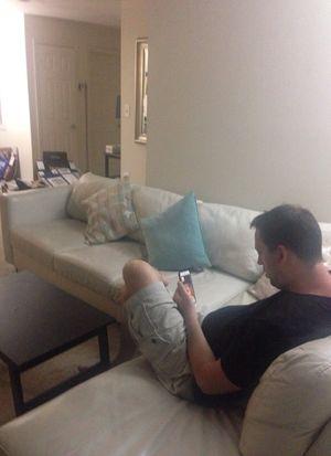White Leather Couch Natuzzi for Sale in Fairfax, VA