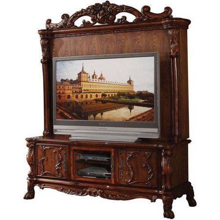 Acme Furniture Dresden Cherry Oak Entertainment Center Top Only Phoenix