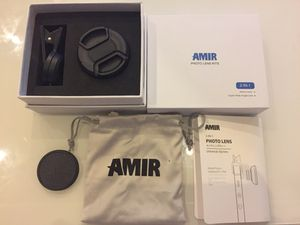 AMIR Phone Camera Lens, 0.6X Super Wide Angle Lens + 15X Macro Lens for iPhone Lens Kit, 2 in 1 Clip-On Cell Phone Camera Lens for iPhone 8, X, 7, 7 for Sale in Seattle, WA