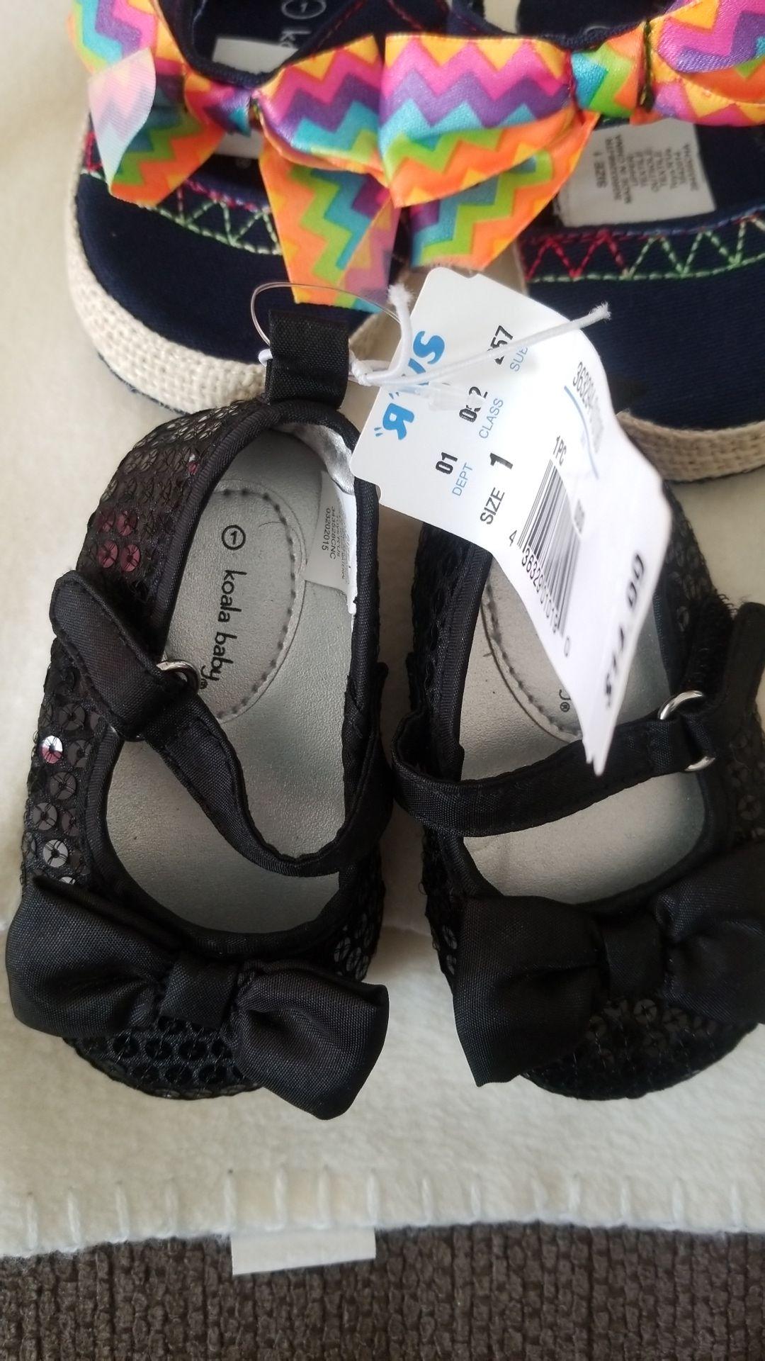 2 Koala baby girl shoes size 1 New