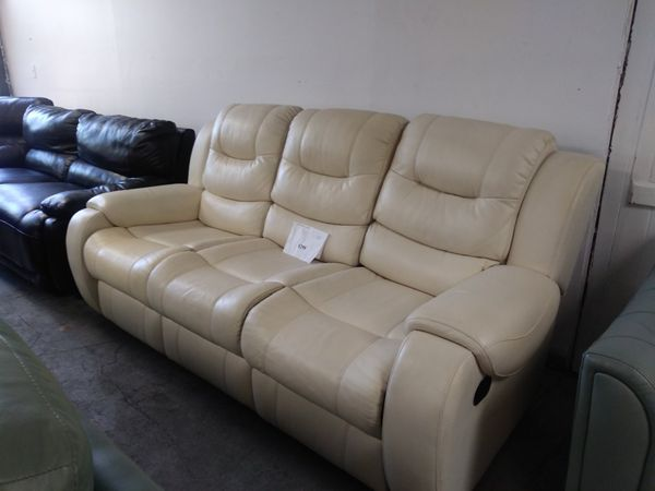 Via Romana Stone Leather Sofa For