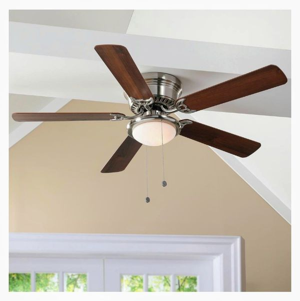 Hugger 52 in led indoor brushed nickel ceiling fan with light kit hugger 52 in led indoor brushed nickel ceiling fan with light kit for sale in houston tx offerup aloadofball Choice Image