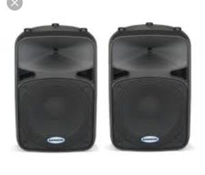 Samson Powered speaker with stand for Sale in Las Vegas, NV