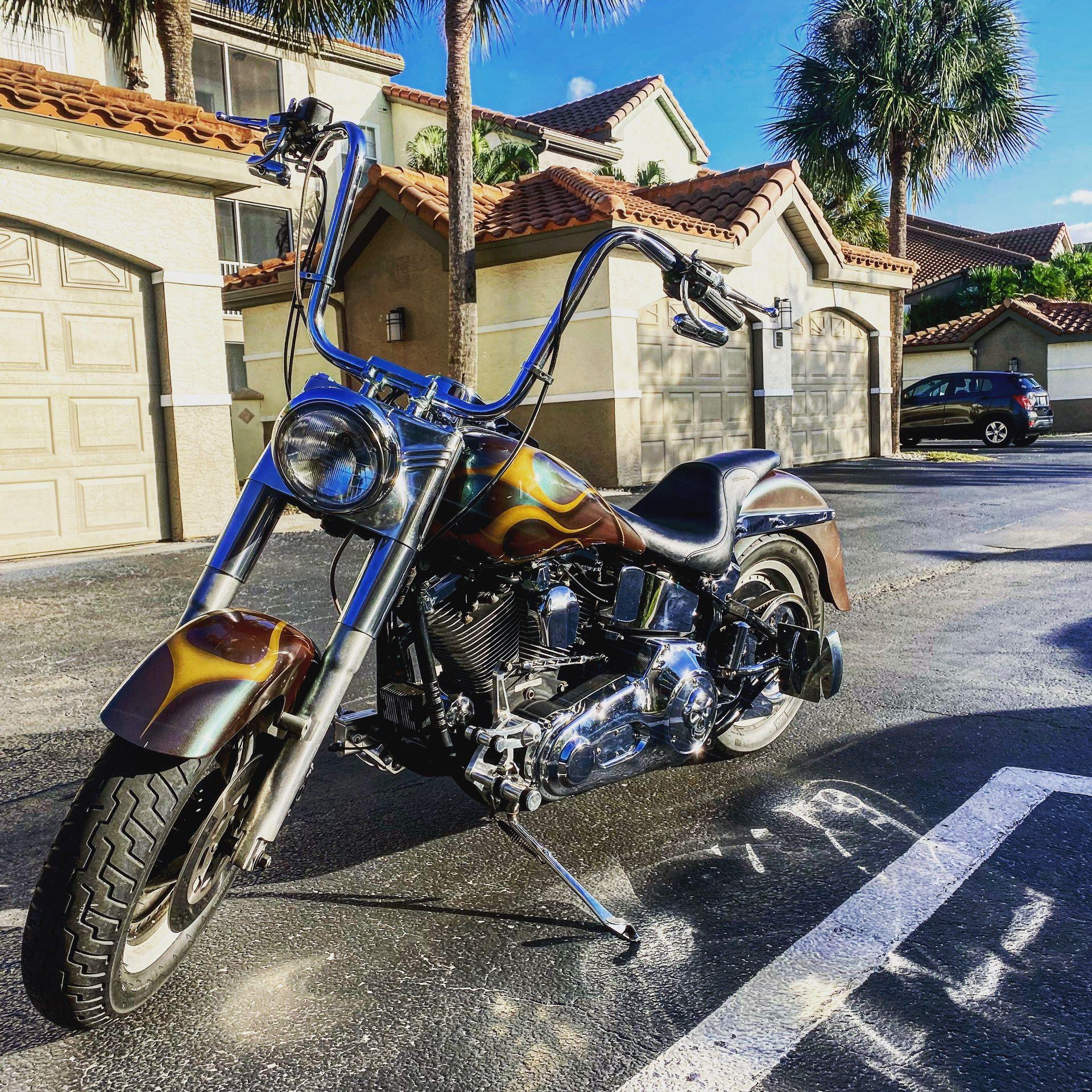 Photo 1998 Harley davidson fat boy
