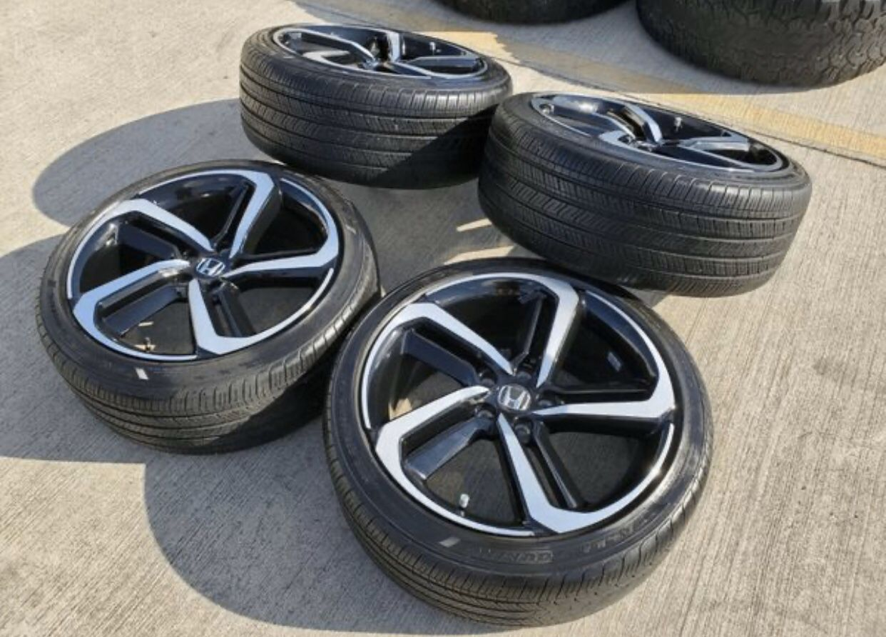 HONDA ACCORD SPORT 19 INCHES FOR SALES WHEELS AND TIRES ✅