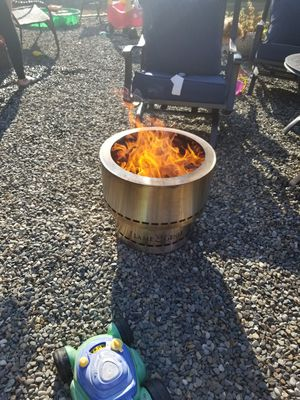 Flame genie pellet stainless fire pit for Sale in Orting, WA