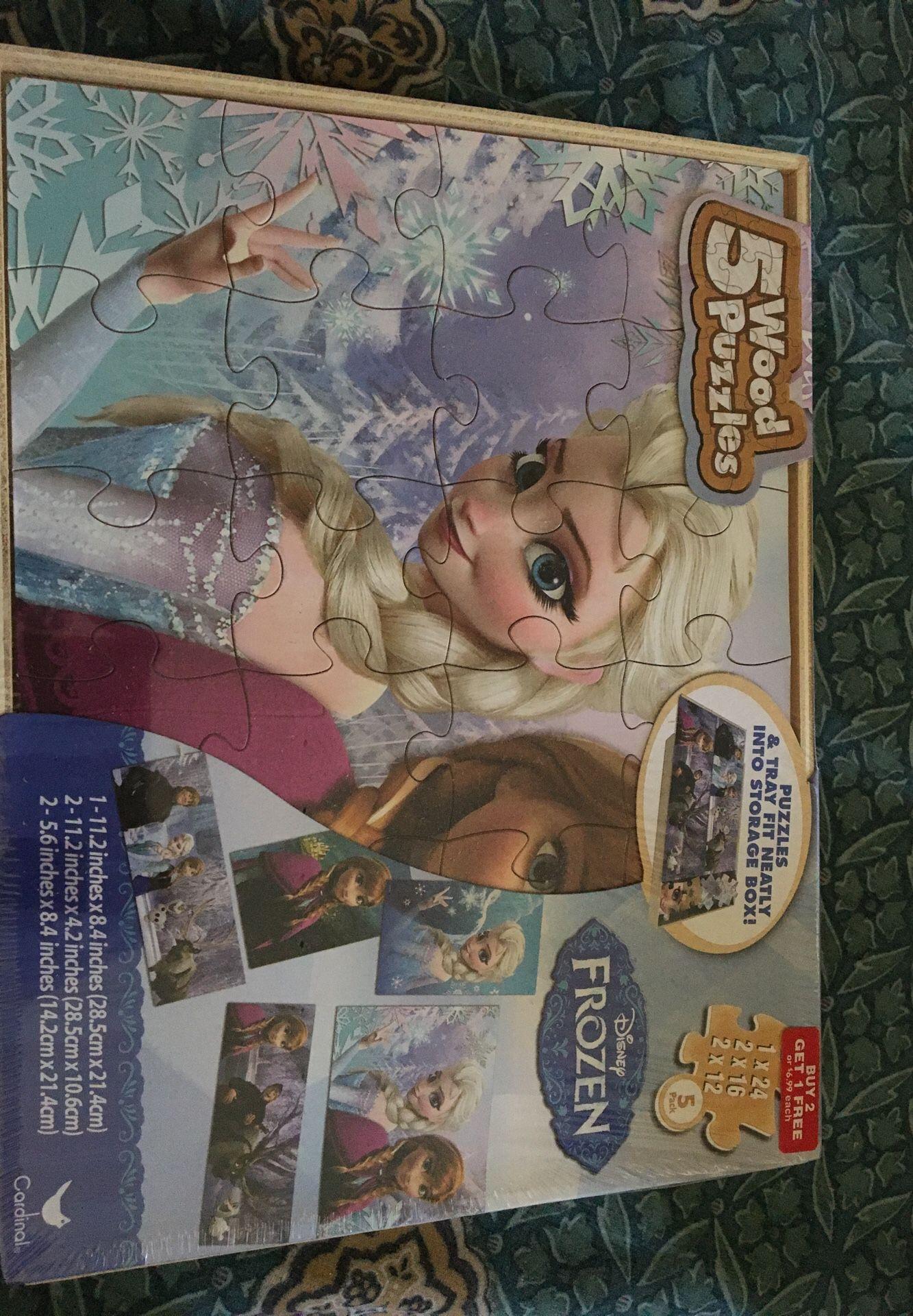 Frozen wood puzzle