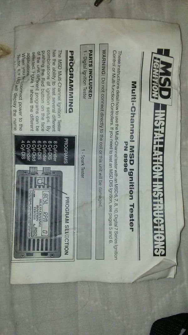 Msd Ignition Tester For Sale In Maineville Oh Offerup