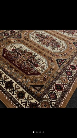 Brand new bokhara design area rug size 8x11 nice beige carpet Afghan design rugs for Sale in Springfield, VA