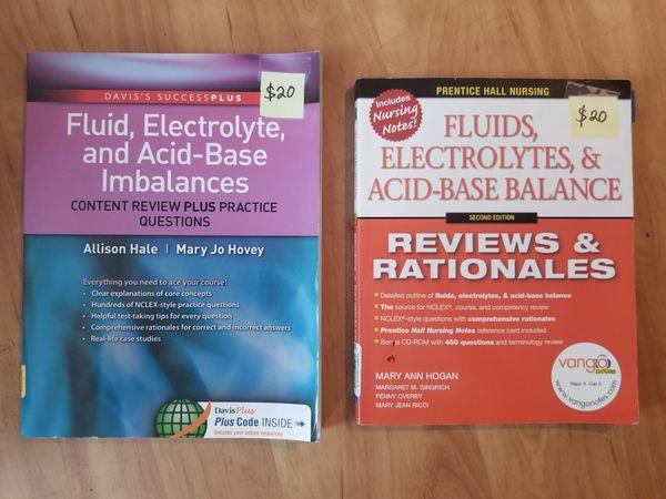 Nursing Textbook NCLEX Nursing Fluid And Electrolytes And Acid Base Balances Books 2 Workbooks 40 For Sale In San Marcos CA OfferUp