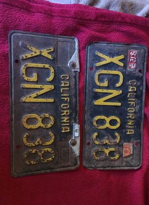 California plates 1963 for Sale in Los Angeles, CA