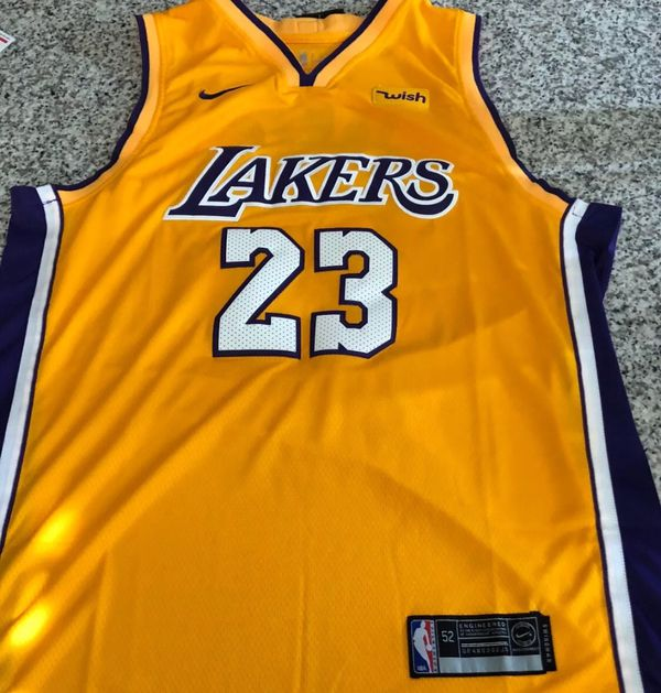 e2e779ab689 Lebron James Laker Jersey Size Men's Large Stitched Jersey for Sale ...