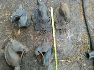 Photo Antique horse heads
