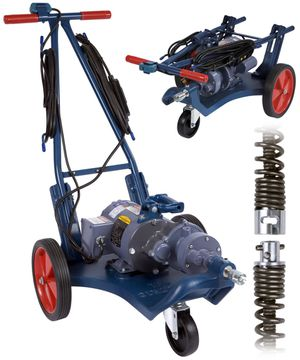 Electric EEL pipe cleaner drain sewer auger snake machine model C B for Sale in St. Louis, MO