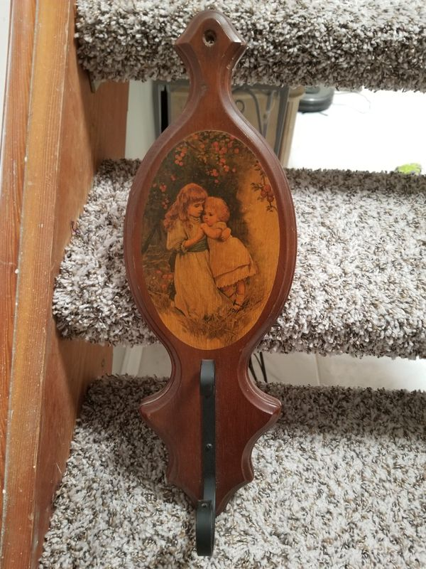 Vintage Wooden Wall Art Plaque With Metal Hook For Sale In West Palm Beach Fl Offerup
