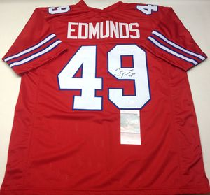 BUFFALO BILLS TREMAINE EDMUNDS AUTOGRAPHED RED JERSEY JSA COA for Sale in  York 6f828576c