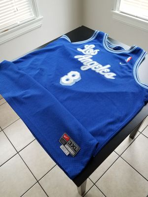 Photo Vintage Authentic Nike Rewind 1960s Throwback Kobe Bryant 8 Blue Jersey 3XL +2 Big and Tall