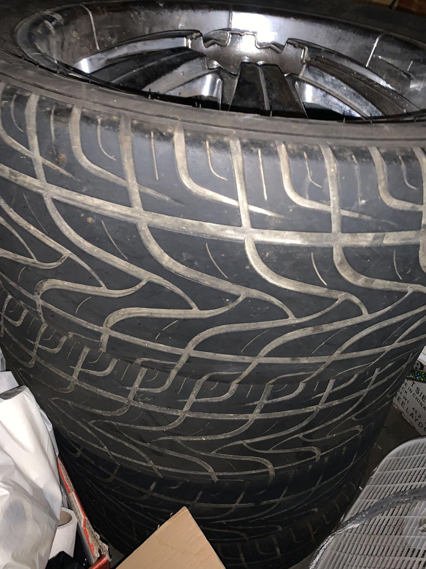"20"" Velocity Rims With Tires"