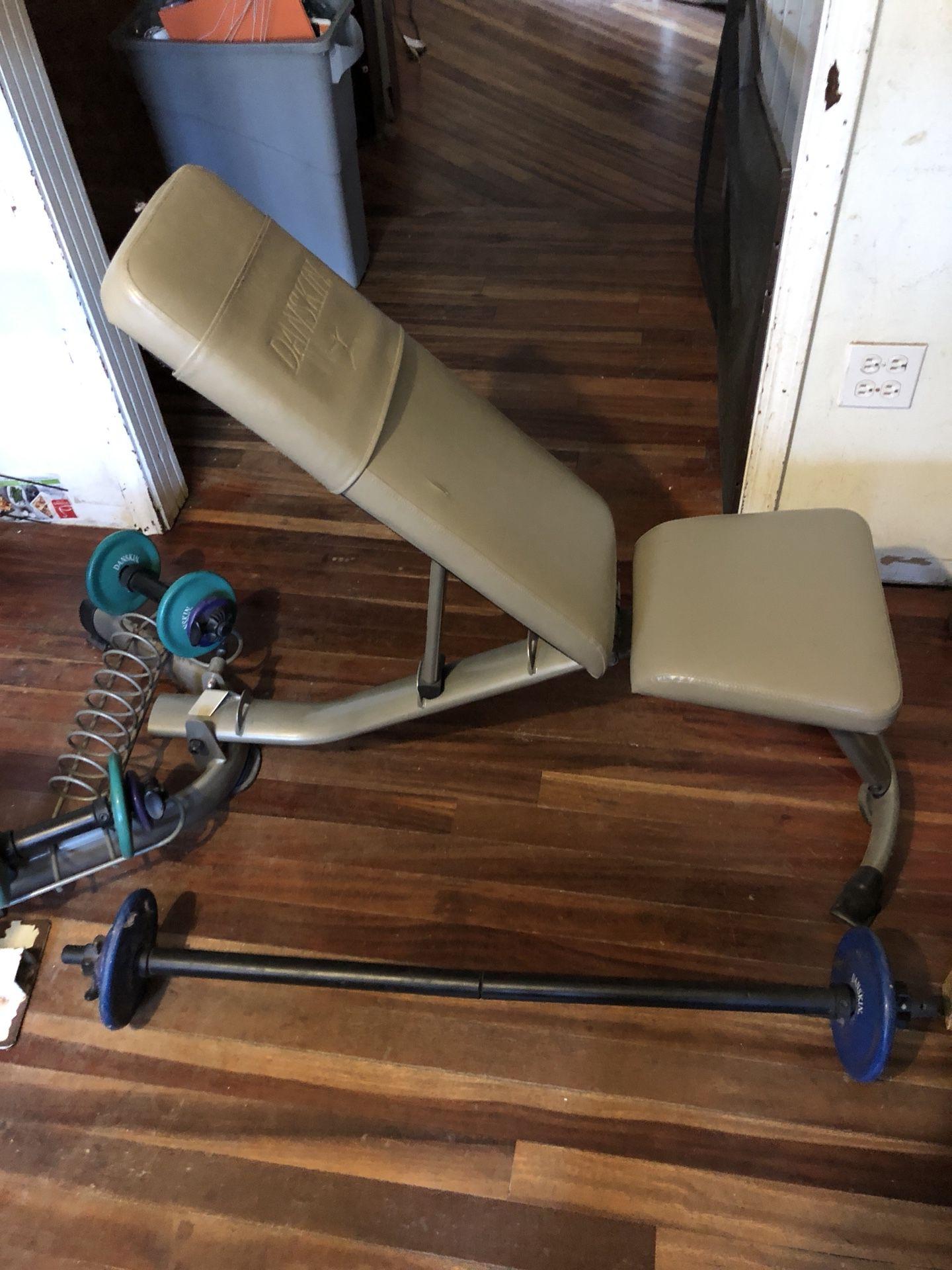 Danskin women's space saver folding adjustable weight bench