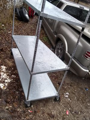 Metro rolling freezer carts heavy duty shelves for Sale in St. Louis, MO