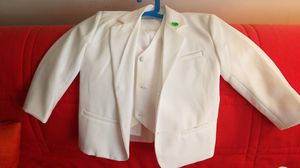 4t boys white suit with vest and button-down shirt for Sale in Washington, DC