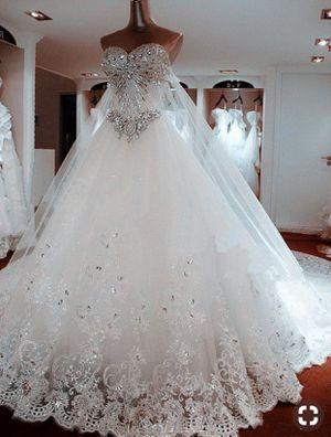 Luxury Sweetheart Crystal Beaded Wedding Dress for Sale in Germantown, MD