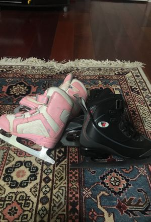 Ice skating shoes for girl and boy for Sale in Chantilly, VA