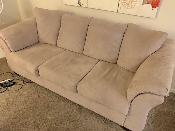 Contemporary Microfiber Sofa