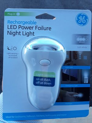 NEW Rechargeable LED Power Failure Night Light for Sale in Rockville, MD
