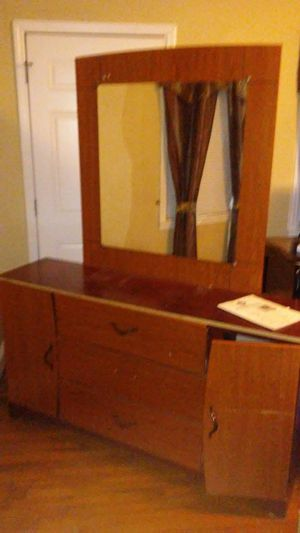 Moving sale refrigerator and dresser and mirror for Sale in Danville, VA