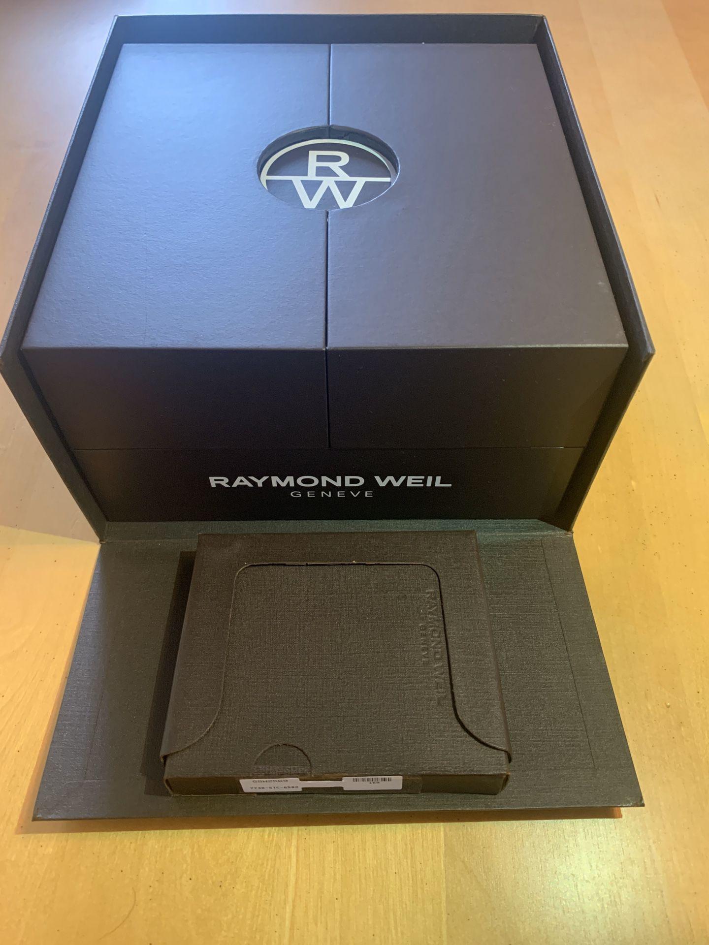 Raymond Weil rose gold men's watch