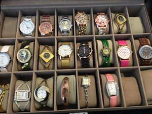 118 New watches with leather lockable display case for Sale in Apex, NC