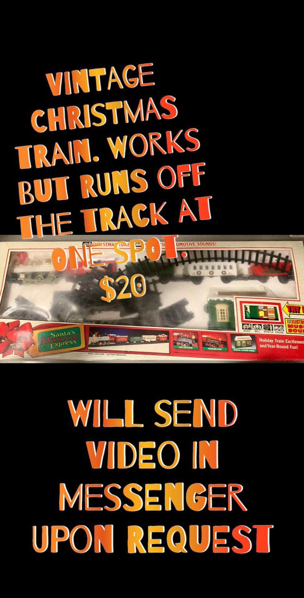 Vintage Santa musical express train