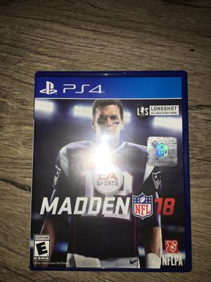 Madden 18 PS4 disk for Sale in Springfield, VA
