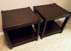 Photo (PIER ONE) SOLID WOOD/SIDE TABLES (EXCELLENT USED CONDITION)
